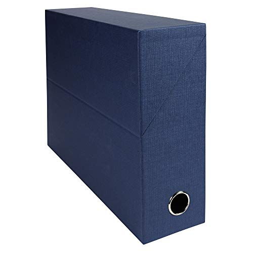 Exacompta Canvas Transfer Box, 90 mm spine, A4 - Dark Blue from Exacompta