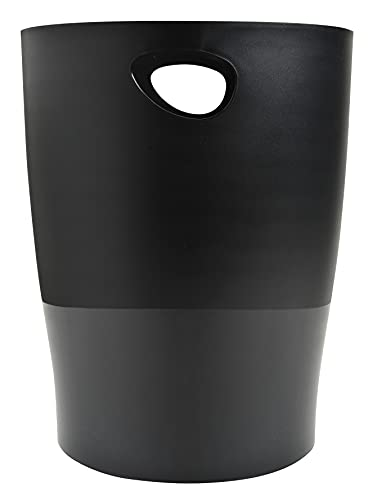 Exacompta ECOBlack Ecobin Waste Paper Bin - Black from Exacompta