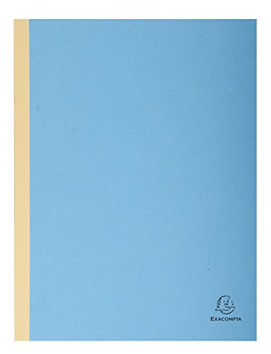 Exacompta Forever Cloth Spine Folders, 24 x 32 cm, 3 mm Spine, 320 g - Blue (25 Pack) from Exacompta