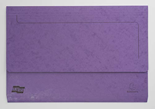 Exacompta Europa Document Wallets, 265 gsm, Foolscap - Lilac, Pack of 25 from Exacompta