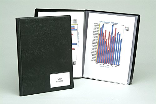 Exacompta Guildhall PVC Display Book, A4, 36 Pockets - Black from Exacompta