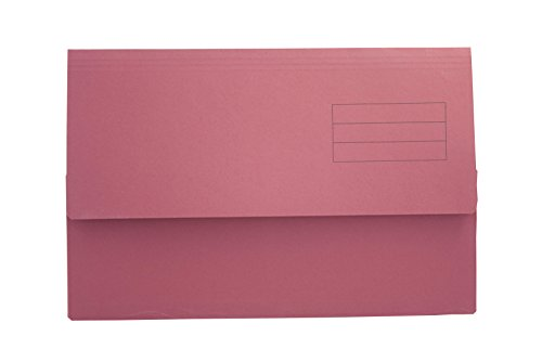 Exacompta Guildhall Plain Document Wallet, 345x245 mm, 250 gsm - Red, Pack of 50 from Exacompta