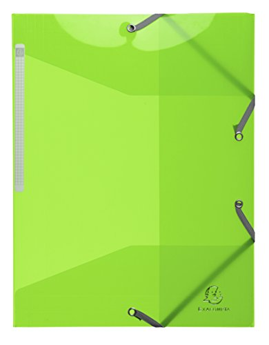 Exacompta - Ref. 55672E - Pack of 15 translucent Polypropylene folders with 3 flaps - Iderama PP - A4 - Lime Green from Exacompta