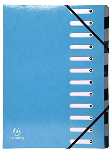 Exacompta Iderama Harmonika Multipart File, A4, 12 sections, 600gsm - Light Blue from Exacompta