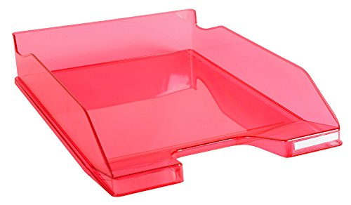 Exacompta Linicolor Letter Tray Combo Midi - Raspberry Transparent Glossy from Exacompta