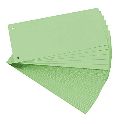 Exacompta Bristol Punched Card Dividers, 105 x 240mm, 180gsm - Green (100 Pack) from Exacompta