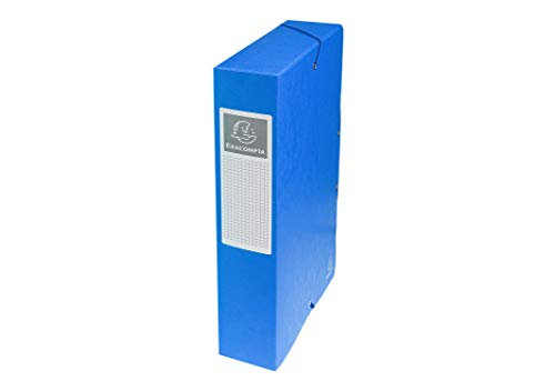 Exacompta Pressboard Filing Box, 600gsm, 60mm spine, A4 - Blue from Exacompta