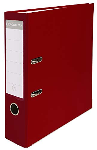 Exacompta PP Lever Arch File, A4, 80mm Spine - Burgundy from Exacompta