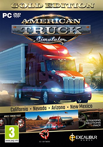 American Truck Simulator Gold (New Mexico DLC/Wheel Turning/Steering Creations) (PC DVD) from Excalibur Games