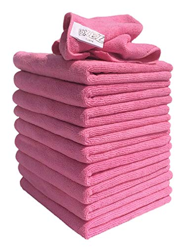 Exel 1 x Supercloth Medium Duty Microfibre Cloth ideal for Home, Car or Garden Pack of 10 Cloths - Pink from Exel