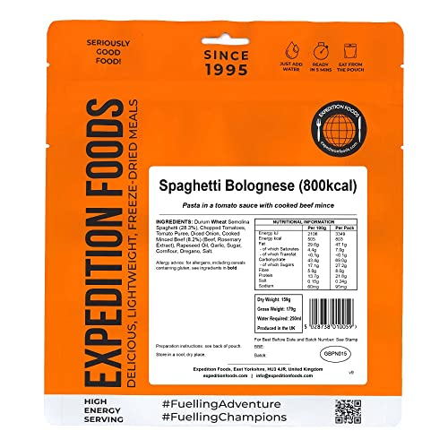 Expedition Foods Spaghetti Bolognese (High Energy Serving) from Expedition Foods