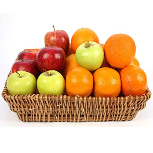 Crunchy Apples and Orange Fruit Basket - Fruit Gift Baskets and Gift Hampers with Next Day UK delivery with Personal Message Attached from Express4Fruits