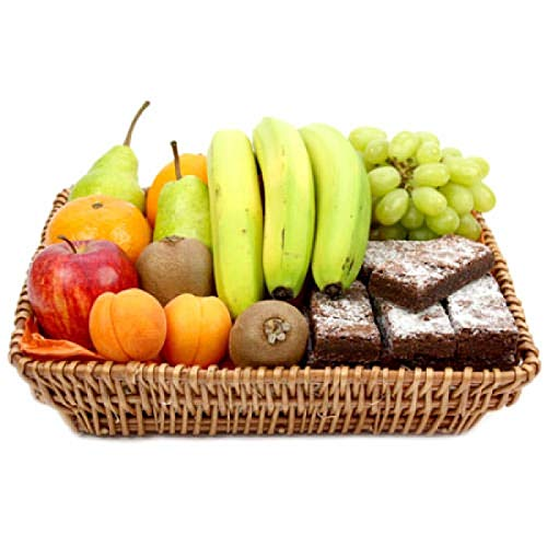 Delight Fruit Basket - Fruit Gift Baskets and Gift Hampers with Next Day UK delivery with Personal Message Attached from Express4Fruits
