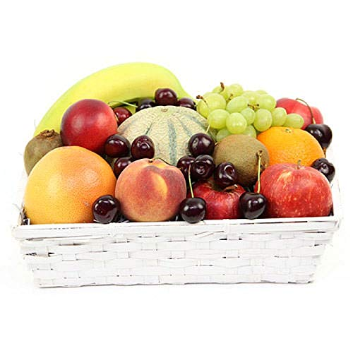 Farm Delight Fruit Basket - Fruit Gift Baskets and Gift Hampers with Next Day UK delivery with Personal Message Attached from Express4Fruits
