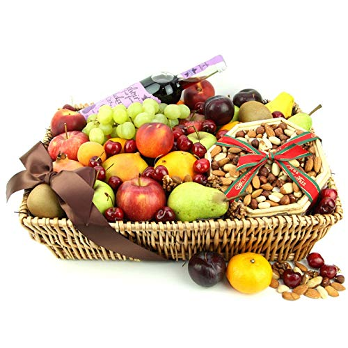 Christmas Fruit Basket - Fruit Gift Baskets and Gift Hampers with Next Day UK delivery with Personal Message Attached from Express4Fruits