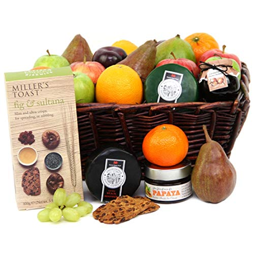 Fruit and Cheese Toast Hamper - Fruit Gift Baskets and Gift Hampers with Next Day UK delivery with Personal Message Attached from Express4Fruits