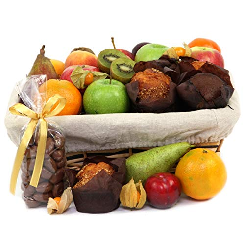 Fruit and Muffins Hamper - Fruit Gift Baskets and Gift Hampers with Next Day UK delivery with Personal Message Attached from Express4Fruits
