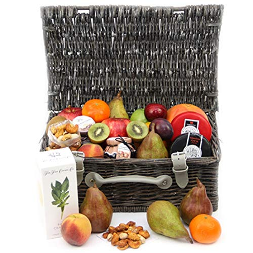 Gourmet Cheese and Fruit Hamper - Fruit Gift Baskets and Gift Hampers with Next Day UK delivery from Express4Fruits