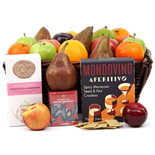 Mondovino Fruit Hamper - Fruit Gift Baskets and Gift Hampers with Next Day UK delivery with Personal Message Attached from Express4Fruits