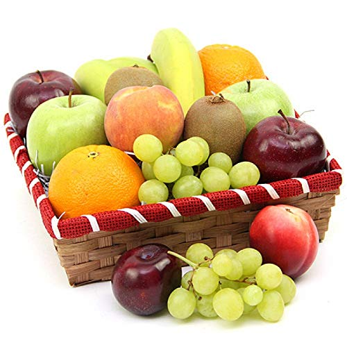 Nectarous Treat Fruit Basket - Fruit Gift Baskets and Gift Hampers with Next Day UK delivery with Personal Message Attached from Express4Fruits