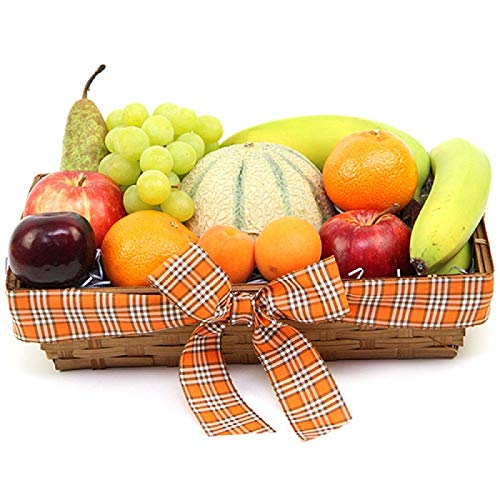 Orchards Delight Fruit Basket - Fruit Gift Baskets and Gift Hampers with Next Day UK delivery with Personal Message Attached from Express4Fruits
