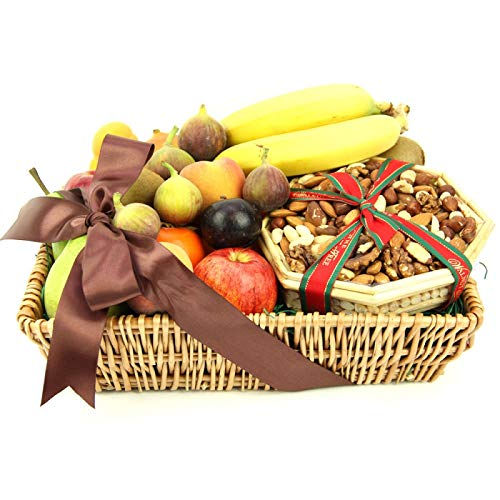 Send Gourmet Fresh Fruit 'N' Nut Basket with Next Day UK Delivery. Free Message Card Option Available from Express4Fruits