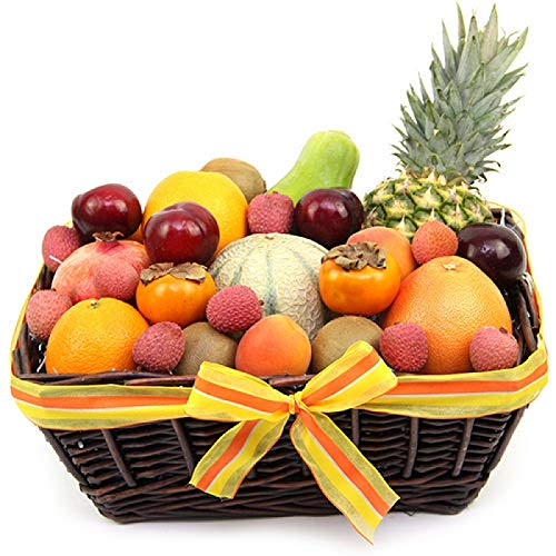 Tropic Fruit Basket - Fruit Gift Baskets and Gift Hampers with Next Day UK delivery with Personal Message Attached from Express4Fruits