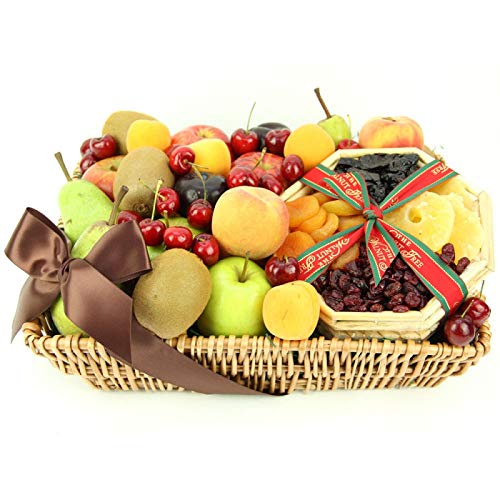Tropical Mix Fruit Basket - Fruit Gift Baskets and Gift Hampers with Next Day UK delivery with Personal Message Attached from Express4Fruits