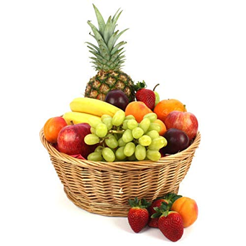 West End Fruit Basket - Fruit Gift Baskets and Gift Hampers with Next Day UK delivery with Personal Message Attached from Express4Fruits