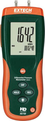 Extech HD700 2 PSI Manometer with Software from Extech