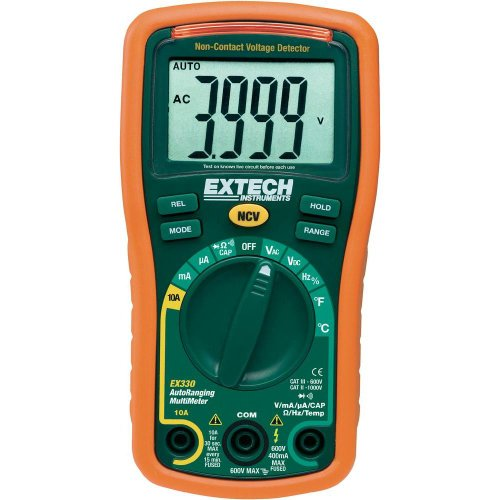 Extech Instruments EX330 12-Function Mini Multi-Meter Plus Non-Contact Voltage Detector from Extech