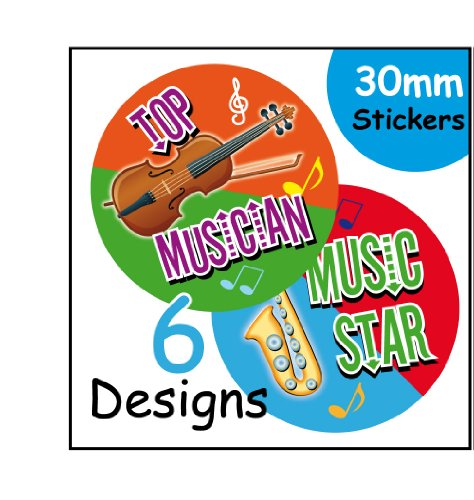 Music Musical Mixed Kids School Reward Stickers from Ezstickers