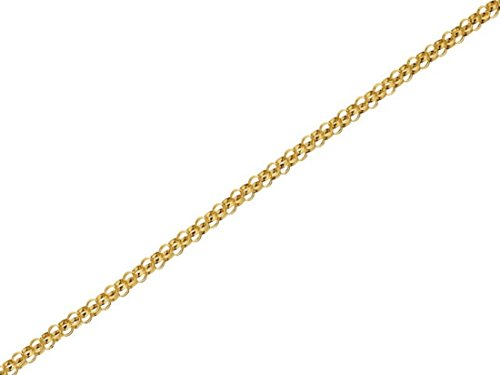 F.Hinds 9ct Gold 1mm Wide Belcher Chain 18in Necklace Rope Jewelry Women Gift from F.Hinds