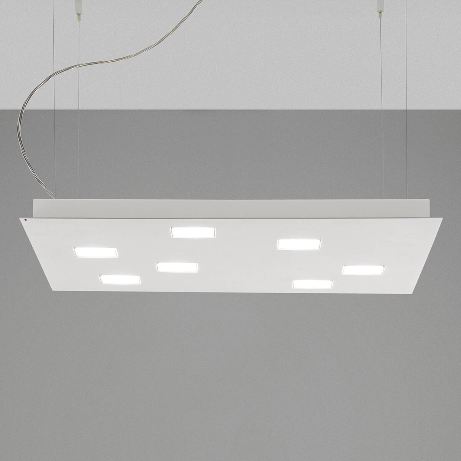 Square Quarter LED pendant light, white from FABBIAN