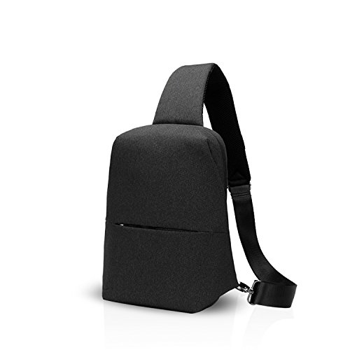 FANDARE Sling Bag Shoulder Backpack Crossbody Bag Single One Strap Backpack Running Cycling Hiking Outdoor Travel Men/Women Polyester Black from FANDARE