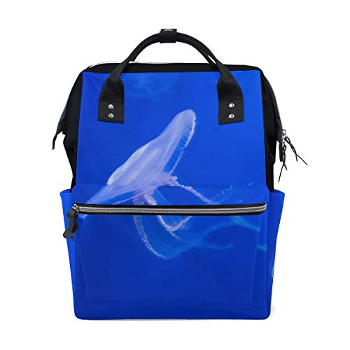 FANTAZIO Backpacks Clear Jellyfish School bag canvas Daypack from FANTAZIO