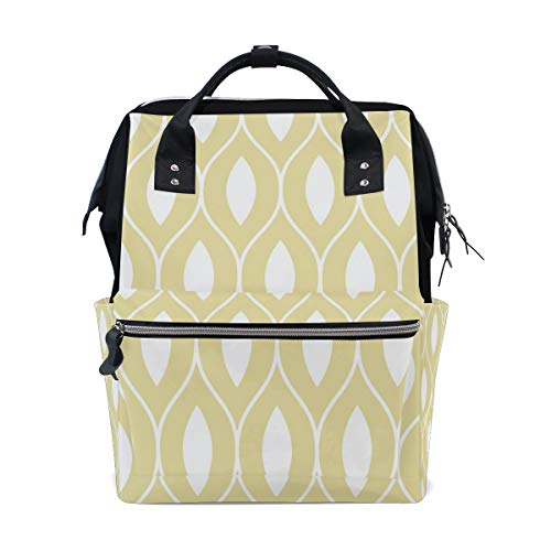 FANTAZIO Backpacks Gold Bloom School bag canvas Daypack from FANTAZIO