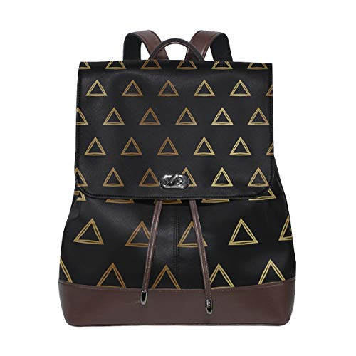 FANTAZIO Backpacks Golden Triangle School bag leather Daypack from FANTAZIO