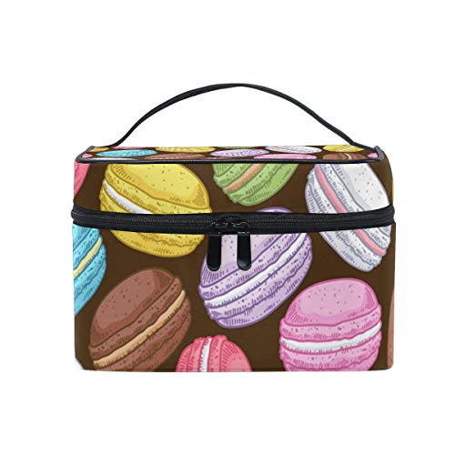 FANTAZIO make up pouch cheap Colorful Cakes Pattern make up Organizer from FANTAZIO