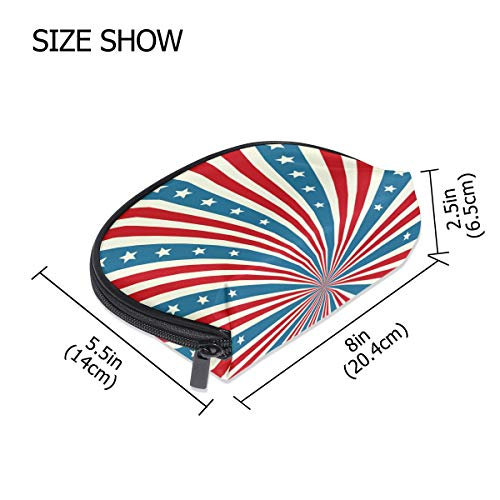 FANTAZIO make up zipper pouch American Flag Stripes Handbag Organizer from FANTAZIO
