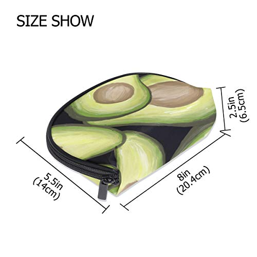 FANTAZIO make up zipper pouch Avocados Painting Handbag Organizer from FANTAZIO