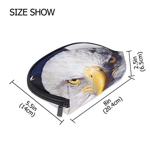 FANTAZIO make up zipper pouch Bald Eagle Handbag Organizer from FANTAZIO
