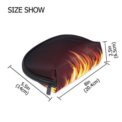 FANTAZIO make up zipper pouch Burning Flame Handbag Organizer from FANTAZIO