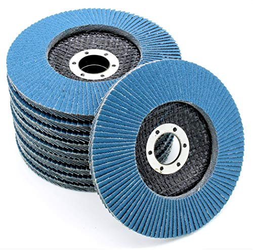Professional Flap Grinding Discs │ blue │ 10 pieces │ Ø 115 mm │ grain 40 │ Inox │ Fan Discs │ Sanding Sheets from FD-Workstuff