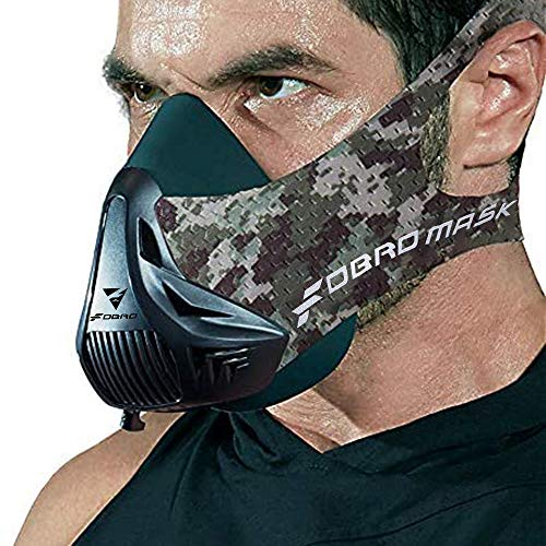 FDBRO Workout Fitness Mask, Workout Training Mask, Running Mask, Breathing Mask, Resistance Mask,Men Women Adult High Altitude Elevation Simulation Trainer (Jungle Camo, Medium) from FDBRO