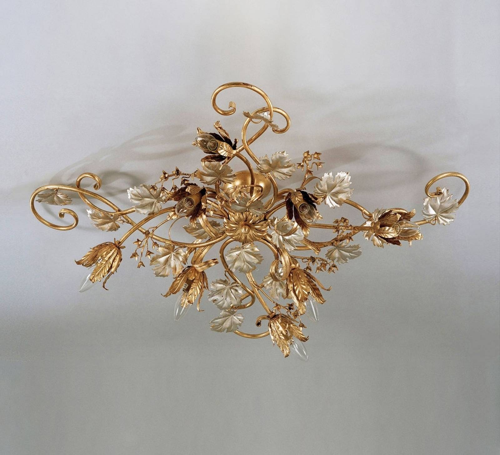 Marian large matt gold ceiling light from FERRO LUCE