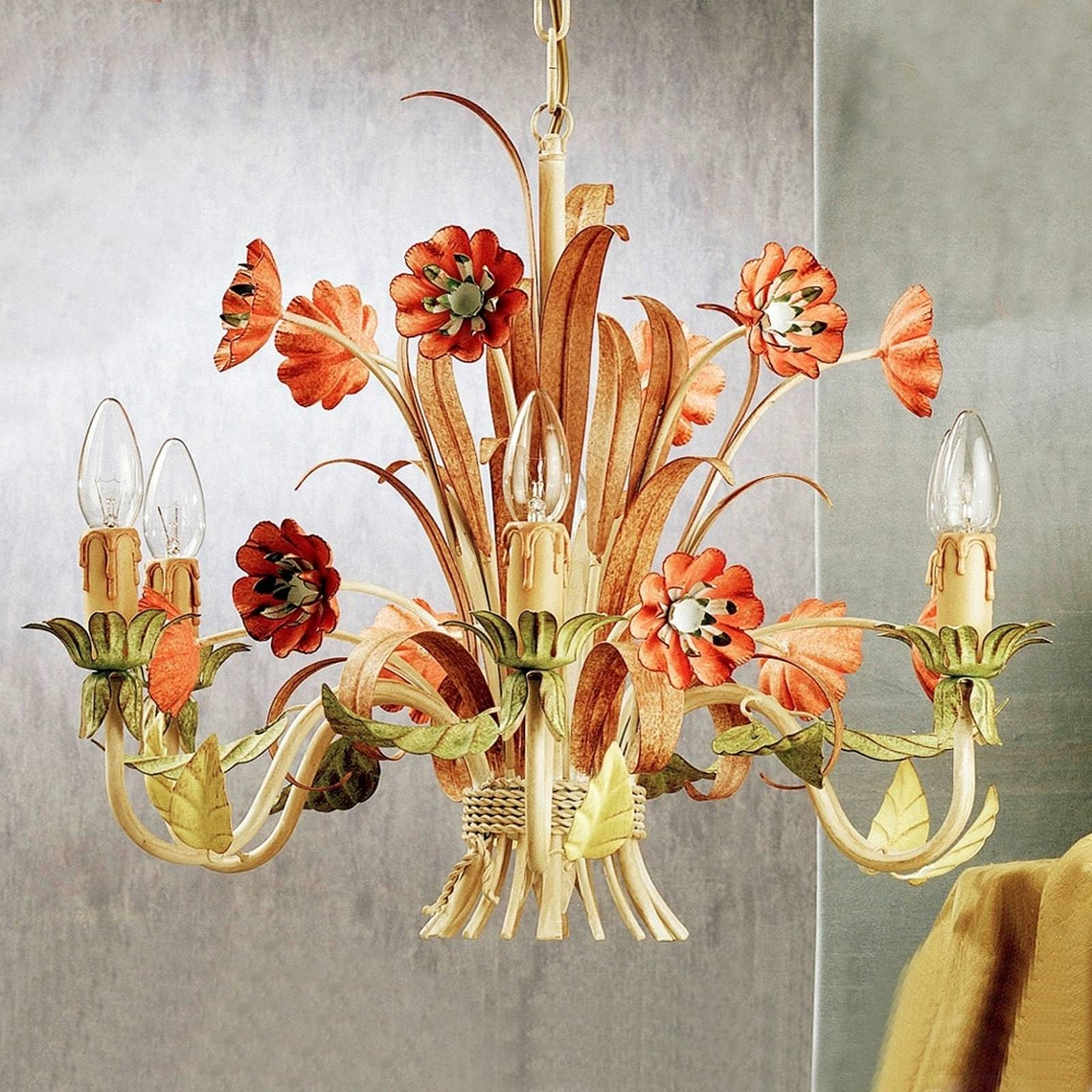 NOVARA colourful chandelier from Ferro Luce