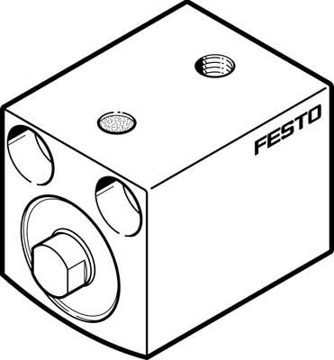 Festo AEVC-12-5-P AEVC Series Short-Stroke Cylinder, 12 mm Piston Diameter, 5 mm Stroke from FESTO