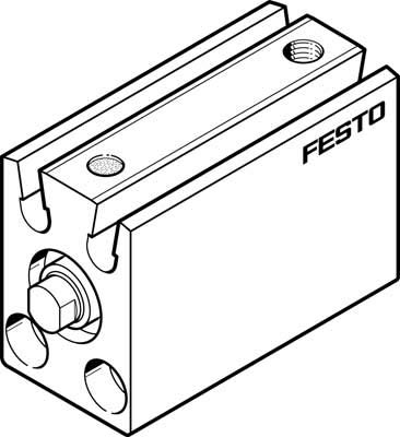 Festo 530571 Model AEVC-12-10-P-A Short-Stroke Cylinder from FESTO