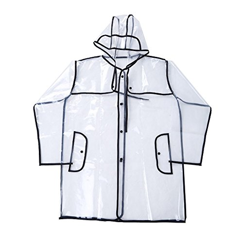 Transparent Waterproof Rain Coat EVA Lightweight Raincoat Waterproof Rain Jacket Outwear Travel Rainwear with Hooded from FGF-EU